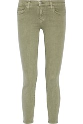 Current Elliott The Stiletto Mid Rise Skinny Jeans Army Green