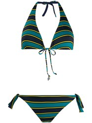 Fisico Striped Bikini Set Blue