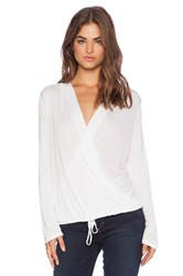 Lanston Sporty Surplice Top White