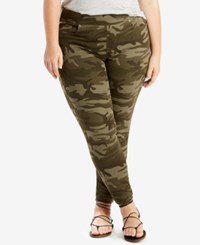 Levi's Plus Size Pull On Jeggings Soft Camo