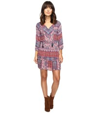 Lucky Brand Mosaic Striped Dress Multi Women's Dress