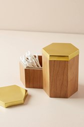 Anthropologie Orion Canister Brown