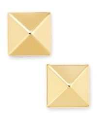 Macy's 14K Gold Earrings 8Mm Pyramid Stud Earrings