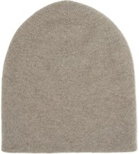 Johnstons Reversible Cashmere Beanie Moondust Chalk