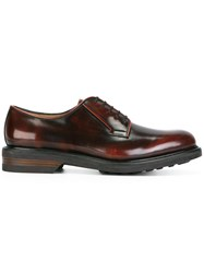 Salvatore Ferragamo Florian Derby Shoes Red