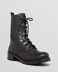 Tory Burch Platform Lace Up Combat Booties Broome Black