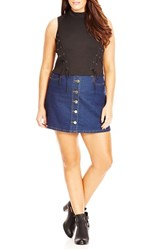 City Chic Plus Size Women's Lace Up Detail Sleeveless Crop Top