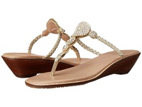 Tommy Bahama Yerba Wedge Light Gold Women's Wedge Shoes