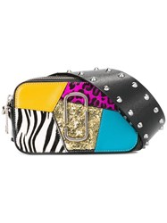 Marc Jacobs Small Punk Patchwork Snapshot Camera Bag Black