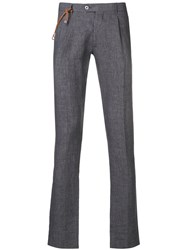 Berwich Slim Fit Tailored Trousers Grey