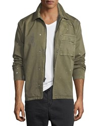 Hudson Men's Twill Military Jacket Army Paint