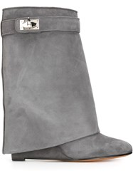 Givenchy 'Shark Lock' Mid Calf Boots Grey