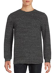 Helmut Lang Heathered Long Sleeve Pullover Dark Melange