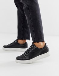 Juicy Couture Leather Lace Up Trainers Black