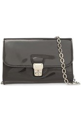Tod's Woman Patent Leather Shoulder Bag Charcoal
