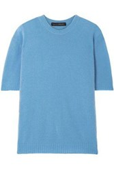 Sally Lapointe Woman Cashmere And Silk Blend Top Azure