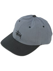 Stussy Embroidered Logo Cap Grey