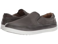 Deer Stags Harrison Grey Simulated Leather Slip On Shoes Gray