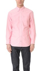 Gitman Brothers Vintage Long Sleeve Pink Oxford Shirt