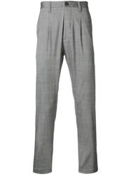 Al Duca D'aosta 1902 Pinstripe Slim Fit Trousers Grey
