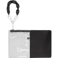 Maison Martin Margiela Mm6 Black Half Transparent Pouch