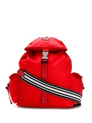 Moncler Foldover Top Backpack Red