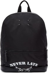 Maison Martin Margiela Black Nylon Never Late Backpack