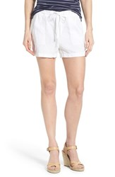 Women's Caslon Drawstring Linen Shorts White