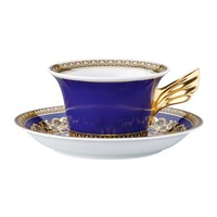 Versace 25Th Anniversary Medusa Blue Teacup And Saucer Limited Edition