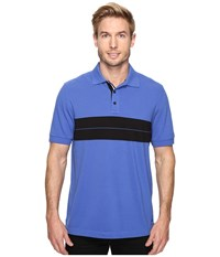 Nautica Short Sleeve Chest Stripe Polo French Blue Men's Clothing