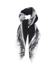 Haider Ackermann Dades Thorn And Dot Print Wool Viole Scarf