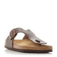 Birkenstock Ramses T Post Mule Sandals Brown