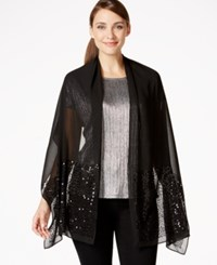 Styleandco. Style And Co. Sequin Panel Wrap Black