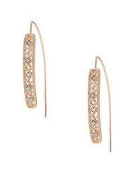 Kensie Lace Curved Goldtone Earrings