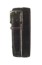 Tommy Bahama Men's 'Largo' Woven Leather Belt Brown