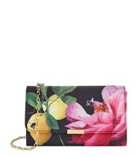 Ted Baker Kaylor Citrus Bloom Clutch Female Black