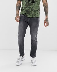 New Look Slim Fit Cropped Jeans In Grey