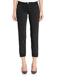 Joe's Jeans Edita Flight Zip Ankle Pants Jet Black