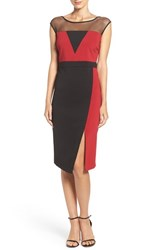 Eci Women's Illusion Colorblock Midi Dress