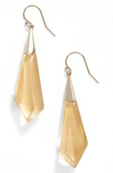 Alexis Bittar Women's Lucite Drop Earrings Polished Gold