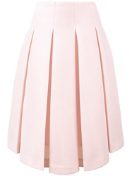 Simone Rocha Pleated Asymmetrical Skirt Women Polyester Acetate 6 Pink Purple