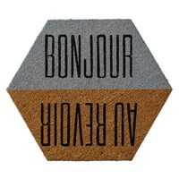 Bloomingville Door Mat 60X70cm 'Bonjour Au Reviour'