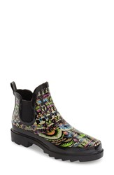 Women's Sakroots 'Rhyme' Waterproof Rain Bootie Neon One World