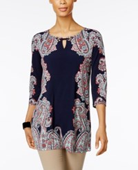 Jm Collection Embellished Printed Tunic Only At Macy's Bedford Frame