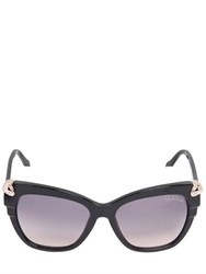 Roberto Cavalli Snake Head Embellished Square Sunglasses