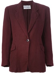 Gianfranco Ferre Vintage Single Button Blazer Red