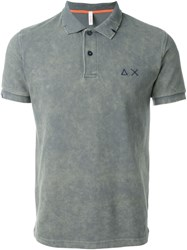 Sun 68 Washed Colour 'Super Vintage' Polo Shirt Grey