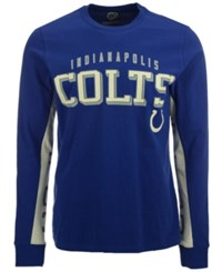 G3 Sports Men's Indianapolis Colts Hands High Front Four Fashion Long Sleeve T Shirt Blue White