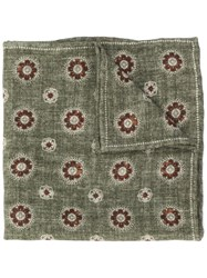 Brunello Cucinelli Floral Patterned Scarf Green