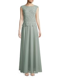 Cachet Cavir Embellished Gown Seafoam